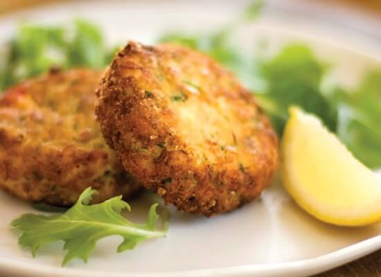 OBX VACATION FUN GUIDE - Photo of Crab Cake from Tommy's Market