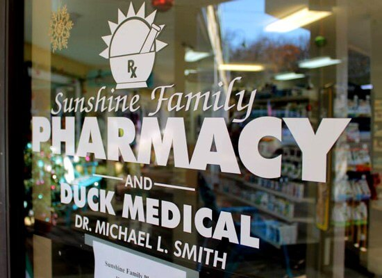 OBX VACATION FUN GUIDE - Photo of Sunshine Pharmacy front door