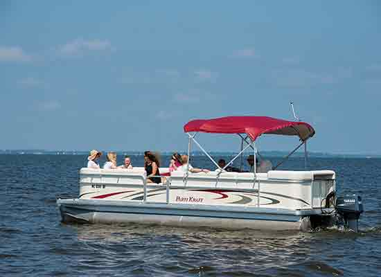 North Beach Pontoon boat